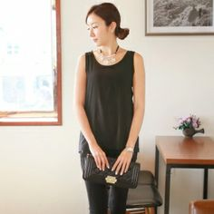 KOREA Women's shopping mall. sell fashionable clothes for housewives. [CANMART]  Sasha pocket nasi tee / SIZE : FREE / PRICE : 17.20 USD
