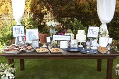 Summer Backyard Wedding Dessert Table (Camilla Photography) - Heart Love Weddings