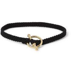 Yuvi - 14-Karat Yellow Gold and Woven Cord Bracelet|MR PORTER