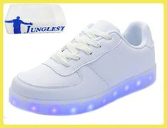[Present:kleines Handtuch]c2 EU 38, Farbwechsel Sportschuhe weise Farbe Turnschuhe Top Damen 7 Schuhe LED Herren Sneaker mit c2 USB High Leucht