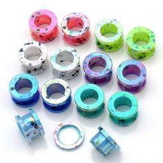Ear expander Body Piercings 1 Pair Acrylic Dot Screw Back Flesh Tunnel Ear Plug Expander Stretcher 2-12mm ear studs plugs