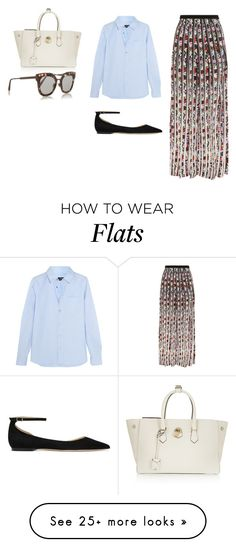"""Sin título #4539"" by ceciliaamuedo on Polyvore featuring Mary Katrantzou, A.P.C., Jimmy Choo, Mallet & Co and Bottega Veneta"