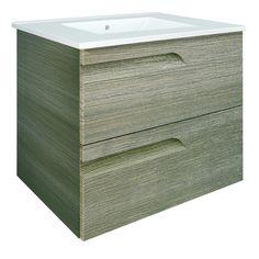 Vitale Designer 600mm Bathroom Vanity Unit - Fossil Grey - RO21858 - Main Image