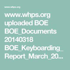 www.whps.org uploaded BOE BOE_Documents 20140318 BOE_Keyboarding_Report_March_2014_(1)_(1)_(1).pdf