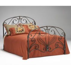 Bernards Furniture Athena Verdi Antiqued Bronze Headboard - - 174 - Air Beds, Sheets, Mattresses, and Bedding Accessories Queen Headboard, Headboard And Footboard, Iron Headboard, Wrought Iron Beds, Bed Price, Metal Beds, Queen Size, Bedding Sets, Bedroom Furniture
