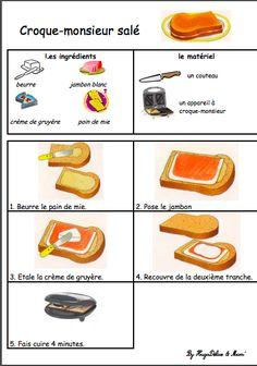 Cooking With Kids, Fun Cooking, Waffle Maker Recipes, French Patisserie, Good Food, Yummy Food, French Food, French Language, Food Illustrations