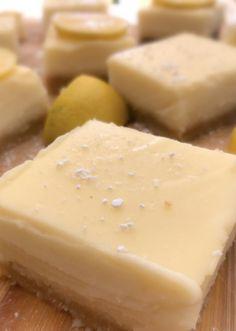 Vegan Baked Lemon Squares – Smollandhungry Coconut Milk Powder, Coconut Cream, Lemon On Face, Lemon Squares, Roasted Cashews, Square Cakes, Baking Tins, How To Squeeze Lemons