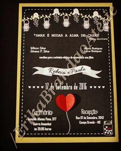 Convite Casamento estilo Chalk   #invite #wedding #bride #bridegroom #loveit #love #casamento #noiva