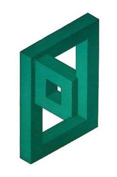 Oscar Reutersvärd - Impossible world Illusion Drawings, Illusion Art, Geometric Drawing, Geometric Shapes, Escher Art, Impossible Shapes, Geometric Coloring Pages, Eye Tricks, Math Art