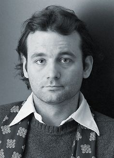 bill murray rare early press promo photo shoot head shot hot saturday night live ghostbuster meatballs promo young lost in translation