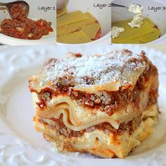 Crock Pot (only) Lasagna... I have been meaning to make this!! Boil the meat in water in the microwave so no stove needed