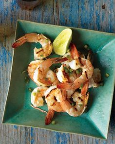 Tequila-Grilled Shrimp -- The citrus marinade for these shrimp is spiked with tequila, which makes for a very flavorful grilled appetizer.