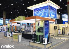 Nimlok specializes in trade show ideas and environmental trade show displays.  For Envion we created a cost-effective portable modular 20' x 20' trade show booth.