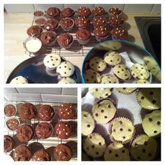Cupcakes with multiple toppings