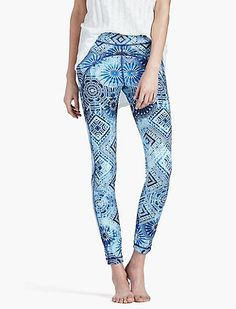 Essential leggings featuring comfortable, breatheable fabric and an allover geometric print.