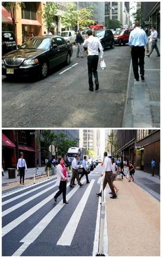 Complete street before-and-after in midtown Manhattan, via Janette Sadik-Khan. Click image to tweet and visit the slowottawa.ca boards >> https://www.pinterest.com/slowottawa/