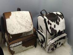Cowhide Bag, Cowhide Leather, Western Baby Nurseries, Western Babies, Leather Diaper Bags, Pony Hair, Rind, Baby Decor, School Backpacks