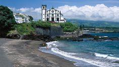 I was Baptized in this church!!!!   Parish church, Areal Grande Beach near Sao Roque, Sao Miguel Island, Azores, Portugal