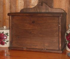 PRIMITIVE BREAD BOX With BuiltIn Shelf by HardingsKnoll on Etsy, $59.00