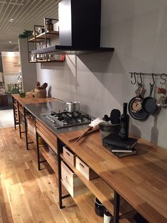 home decor and Industrial Kitchen Design, Rustic Kitchen, Interior Design Kitchen, Kitchen Dining, Home Decor Kitchen, Kitchen Furniture, Unfitted Kitchen, Sweet Home, Home Room Design
