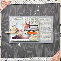 #scrapbooking page: wonderful #fall for #CratePaper - by Janna Werner