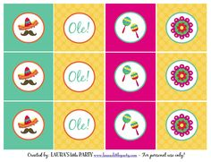 LAURA'S little PARTY: Kid-friendly Fiesta + FREE printables! http://www.lauraslittleparty.com/2015/04/kid-friendly-fiesta-free-printables.html