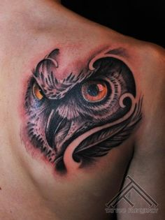 japanese owl tattoo | Shoulder Owl Tattoo by Tattoo Frequency