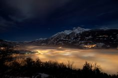 Aosta in a foggy night   You can buy a print of this photo a…   Flickr - Photo Sharing!