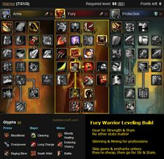 Fury Warrior Leveling Build -- #warcraft -- http://www.gotwarcraft.com/guides/leveling/class/warrior.php
