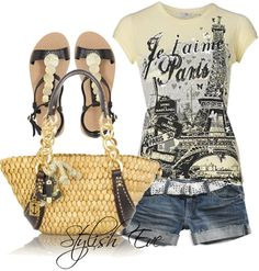 Midnight in Paris 🎭✈ or traveling! Clothes Horse, Casual Wear, Dress Up, Spring Summer, Chic, Stylish, My Style, Cloths, Polyvore