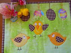 Easter Table Mat Easter Mug Rug Easter Table by ComfyCosyCrafts, $12.00