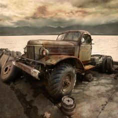 Old Trucks. needs a little help, but love them old trucks