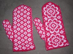 Knitted End of May Mittens