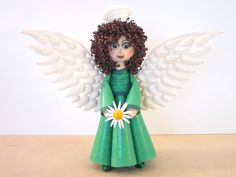 Bridgit's Quilling Puppe zum ENGEL / Doll to a Angel (Teil 2) Tutorial