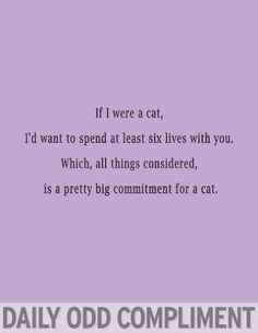odd compliments