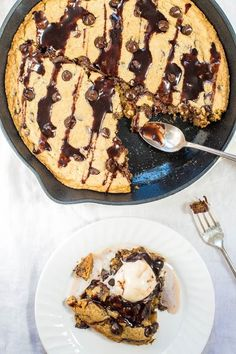 do-not-touch-my-food: Chocolate Chip Skillet Cookie