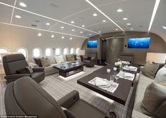 This is the first Boeing 787 Dreamliner ever to be converted into a private jet custom-built for corporate flyers, and boasts luxury furnishings and plenty of room for dining and entertaining