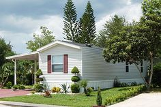 Mobile Homes For Sale or Rent Single Wide Mobile Homes, Mobile Homes For Sale, Mobile Home Exteriors, Garden Spaces, Ideal Home, Tiny House, Shed, Home And Garden, Outdoor Structures