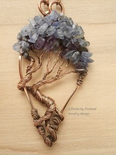 Wire Wrapped Tree of Life Pendant Tanzanite & by PerfectlyTwisted