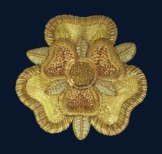 Tudor Rose Goldwork Embroidery Kit - a Hand Embroidery Design as an Alternative to Cross-stitch.
