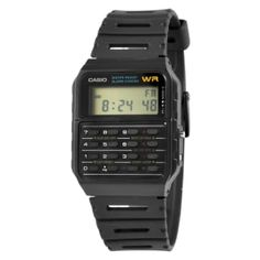 * Stylish retro watch from Casio * Built-in calculator * Lots of great features Retro Watches, Boys Watches, Men's Watches, Countdown Timer, Welcome To The Family, Mechanical Watch, Watch Brands, Casio Watch, Calculator