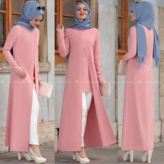 Tesettür Islamic Fashion, Muslim Fashion, Modest Fashion, Fashion Dresses, Hijab Style Dress, Hijab Chic, I Dress, Mode Abaya, Modele Hijab