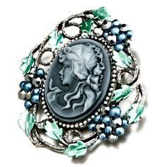 Pugster Classic Antique Lady Maiden Profile Cameo Floral Gray Swarovski Crystal Diamond Accent Brooches And Pins Pugster. $12.39. Can be pinned on your gown or fastened in your hair with bobby pins.. Exquisitely detailed designer style with Swarovski cystal element.. One free elegant cushioned Gift box available with every order from Pugster.. Occasion: casual wear,anniversary, bridal, cocktail party, wedding. Money-back Satisfaction Guarantee.