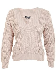 V-Neck Cable Jumper