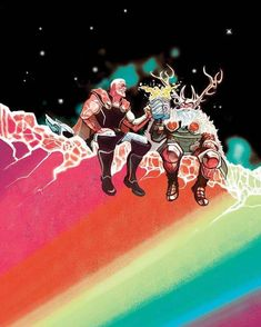 Marvel Thor and Odin Marvel Comics, Fun Comics, Marvel Art, Marvel Heroes, Asgard Marvel, Best Comic Books, Comic Books Art, Comic Art, Book Art