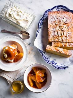 Tipsy cake with brandy apples
