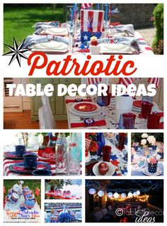 Patriotic Decorations Elegant Fourth of July Table Decor Ideas | The ou0027jays Chic and Of  sc 1 st  Pinterest : patriotic party decorating ideas - www.pureclipart.com