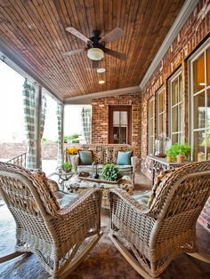 Back Patio Designs For Our Freshness House Design : Fascinating Traditional  Back Porch Designs Also Rattan