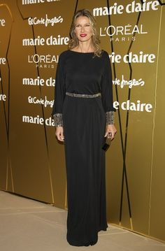 Anne Igartiburu attends Marie Claire Prix de la Moda awards 2011 at French Embassy on November 17, 2011 in Madrid, Spain.