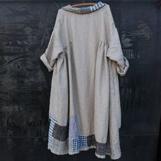 Hand Stitched Linen Dress Size Extra Large a One by MegbyDesign